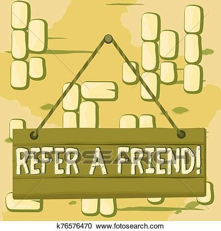 Word writing text Refer A Friend